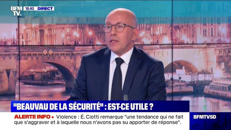 """Éric Ciotti (LR): """"La loi sécurité globale c'est un gadget, ce sont des mesurettes"""""""