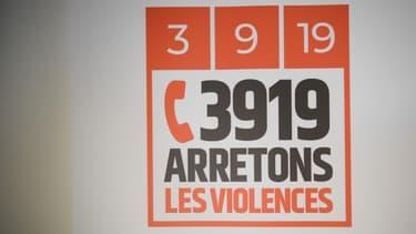 Logo du numéro d'urgence pour les violences conjugales, créé le 3 septembre 2019