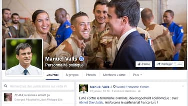 La page Facebook officielle de Manuel Valls.