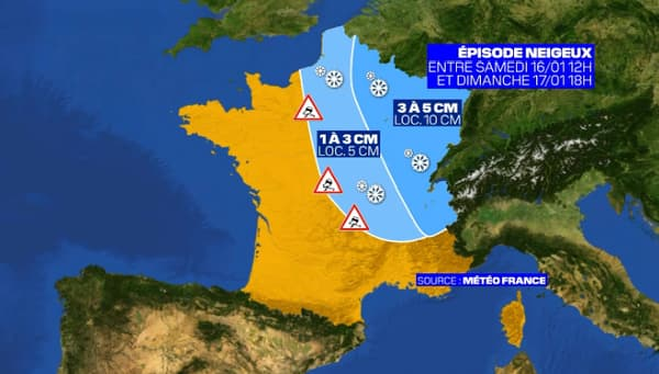 Entre 1 à 3 cm de neige sont attendus en Ile-de-France ce week-end.