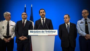 Christophe Castaner lors d'une conférence de presse au ministère de l'Intérieur, le 7 décembre 2018 à Paris.