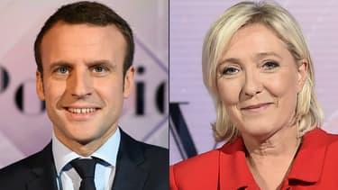 Emmanuel Macron et Marine Le Pen, les deux finalistes pour le second tour de la présidentielle.