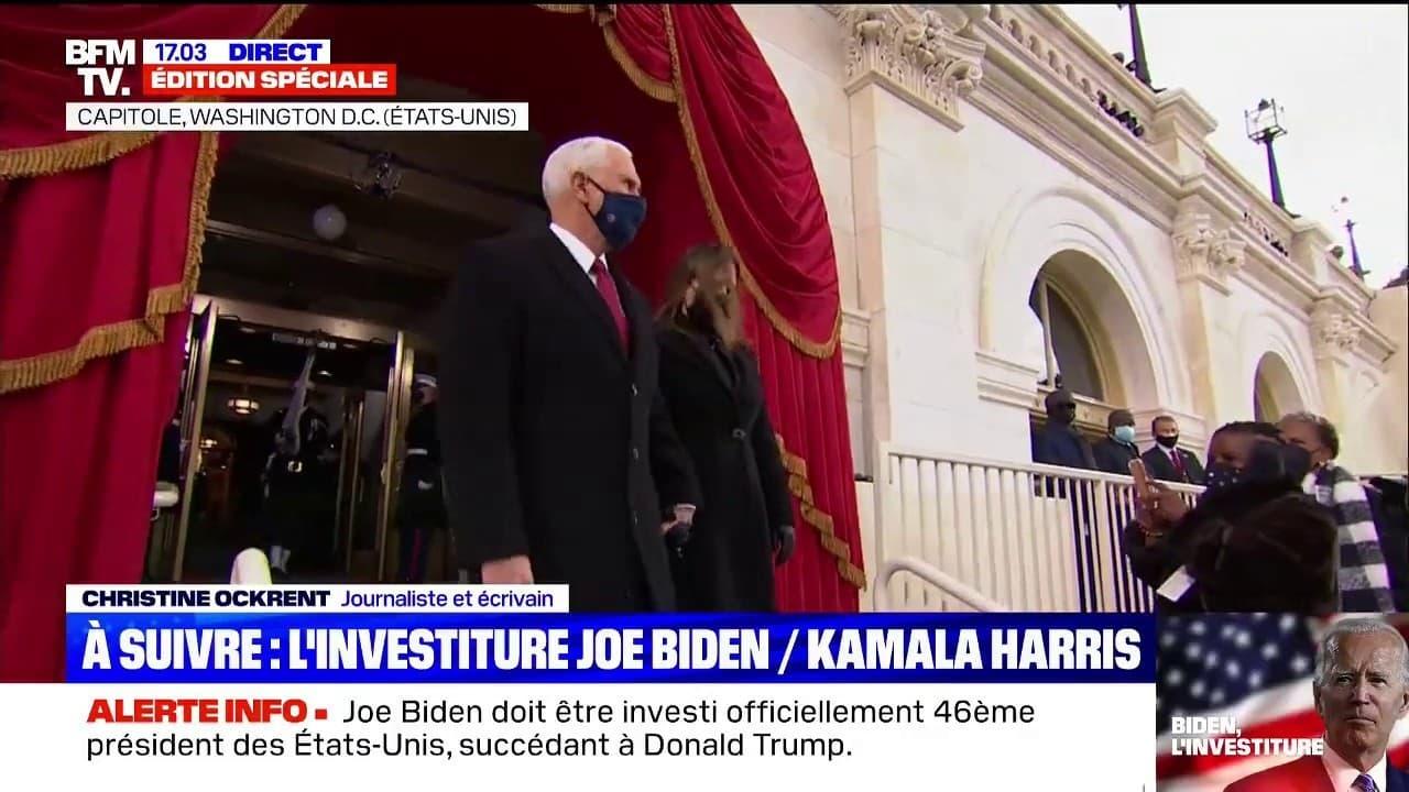 Investiture de Joe Biden: Mike Pence et son épouse sont arrivés