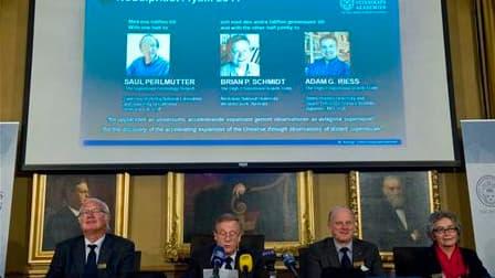 Le prix Nobel de physique 2011 a été décerné mardi aux astrophysiciens Saul Perlmutter, Brian Schmidt et Adam Riess pour leur découverte du phénomène de l'accélération de l'expansion de l'univers grâce à leurs recherches sur les supernovae. /Photo prise l