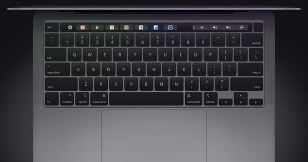 Le clavier du dernier MacBook Pro.