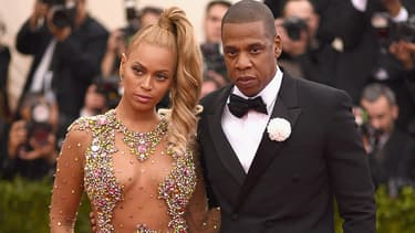 Beyoncé et Jay Z au Met Gala 2015, à New York