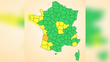 La Gironde reste seule en vigilance orange.