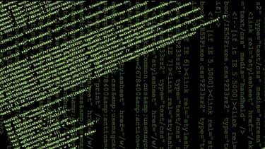 Le code HTML d'une page Wikipédia.