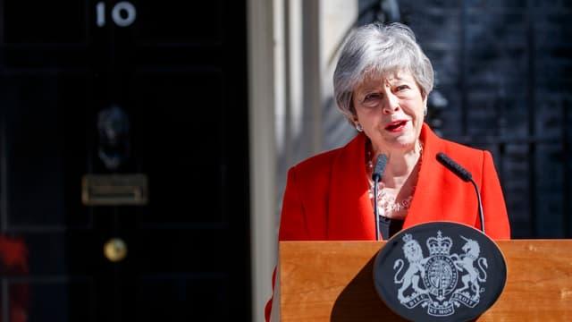 Theresa May annonçant sa démission le 24 mai 2019