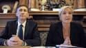 Bernard Monot et Marine Le Pen le 24 février 2014.
