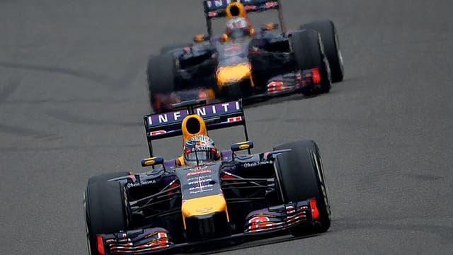Sebastien Vettel et Daniel Ricciardo