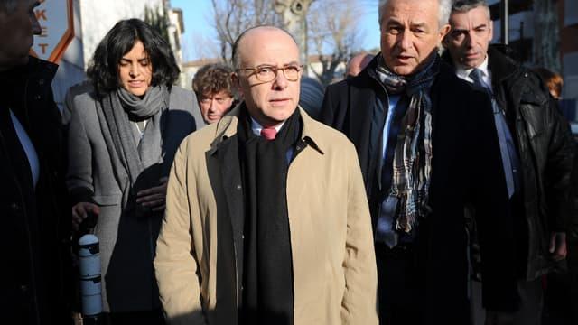 Bernard Cazeneuve à Lunel, le 7 février 2015.