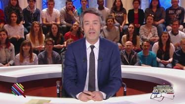 Yann Barthès sur le plateau de Quotidien, le 14 mars 2017