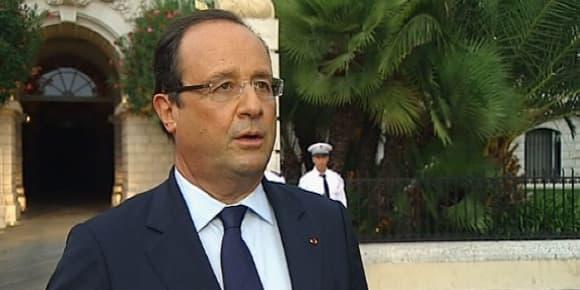 François Hollande lors des 7e Jeux de la Francophonie à Nice le 7 septembre 2013.