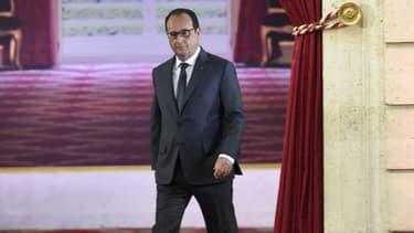 François Hollande lors de sa conférence de presse le 7 septembre 2015