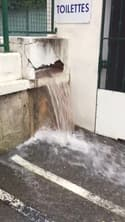 Un terrain de boules inondé à Puget-sur-Argens (Var) - Témoins BFMTV