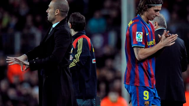 Pep Guardiola et Zlatan Ibrahimovic
