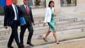 Harlem Désir, Kader Arif et Fleur Pellerin à la sortie du Conseil des ministres, le 27 août.