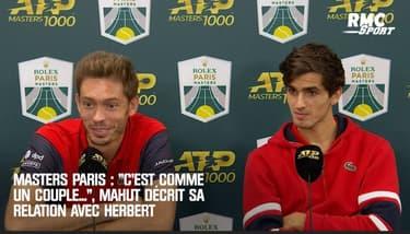 """Masters Paris : """"C'est comme un couple..."""" : Mahut explique sa relation avec Herbert"""