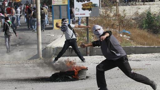 Manifestants dans la bande de Gaza, le 19 novembre
