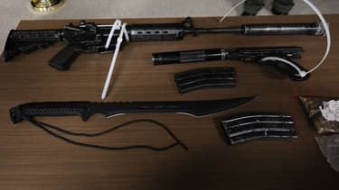 Des armes saisies par le Los Angeles County Sheriff le 21 juin 2017. Photo d'illustration.
