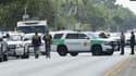 Des agents de l'ATF interviennent après une fusillade meurtrière au lycée de Santa Fe, au Texas, le 18 mai 2018,