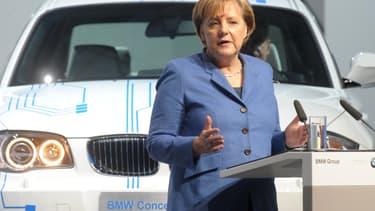 La bonne nouvelle pourrait être annoncée par Angela Merkel (ici lors d'un discours dans l'usine BMW de Leipzig) ou l'un des membres de son gouvernement au début de la semaine prochaine.