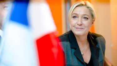 Marine Le Pen, la présidente du Front national, le 24 octobre 2014, lors d'un meeting.