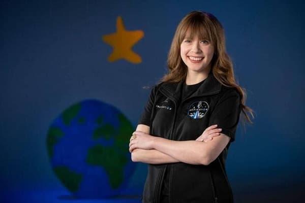 Hayley Arceneaux, 29 ans, la plus jeune astronaute de la mission.