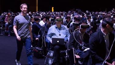 Mark Zuckerberg au MWC de Barcelone le 21 février 2016.
