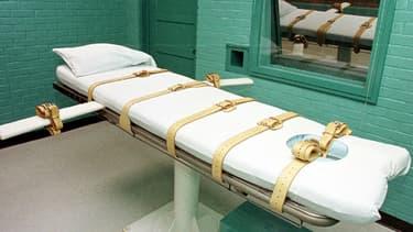 Salle d'exécution à la prison de Huntville, au Texas, l'Etat qui exécute le plus aux Etats-Unis.