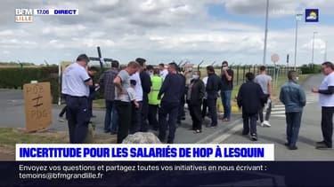 Aéroport de Lille: les salariés de Hop! se mobilisent contre la fermeture du site de maintenance