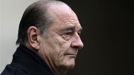 """Jacques Chirac a été renvoyé en correctionnelle pour """"prise illégale d'intérêt"""" dans un second dossier d'emplois présumés fictifs remontant à l'époque où il était maire de Paris de 1977 à 1995. /Photo prise le 11 janvier 2010/REUTERS/Charles Platiau"""