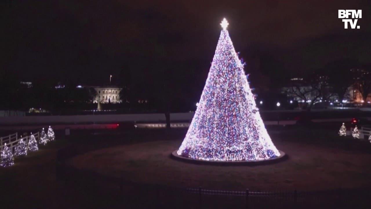 États-Unis: Donald et Melania Trump illuminent le sapin de Noël de la Maison Blanche