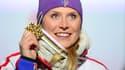 Tessa Worley, médaillée d'or en géant