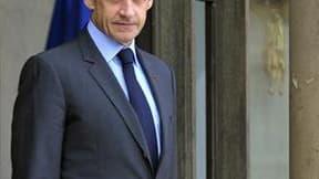 Nicolas Sarkozy envisage d'organiser en avril une réunion des ministres de l'Économie et de l'Énergie du G20 sur les questions énergétiques pour tirer notamment les leçons de la crise nucléaire japonaise, selon des organisations écologiques. /Photo prise