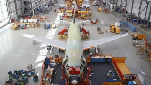 L'usine Airbus à Toulouse.