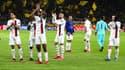 Les joueurs du PSG face à Dortmund