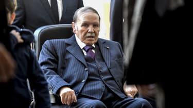 Le président algérien Abdelaziz Bouteflika, le 23 novembre 2017 à Alger, lors d'élections locales.