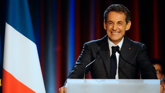 Nicolas Sarkozy en meeting à Nancy le 3 novembre 2014