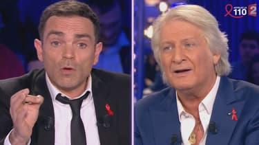 """Yann Moix face à Patrick Sébastien sur le plateau de """"On n'est pas couché le 2 avril 2016"""