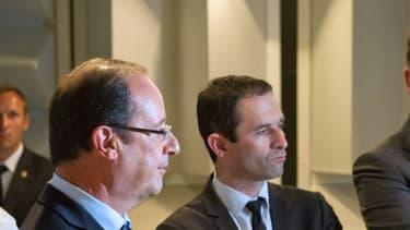 François Hollande, Benoît Hamon et Arnaud Montebourg.