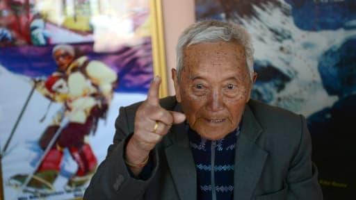 Le montagnard népalais Min Bahadur Sherchan le 10 février 2017 à Katmandou