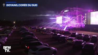 En Corée du Sud, des centaines d'automobilistes assistent à un concert en drive-in