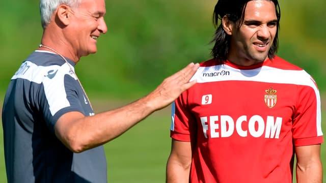 Claudio Ranieri avec Radamel Falcao
