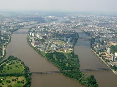 Vue de l'île de Nantes