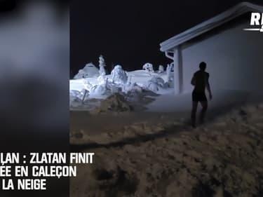 AC Milan: Zlatan finit l'année en caleçon dans la neige
