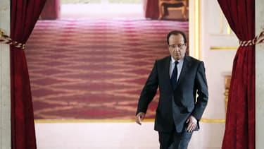 Le président de la République François Hollande, lors de sa grande conférence de presse de mai 2013