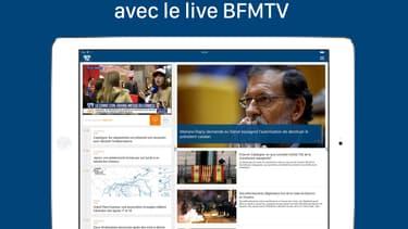 L'application tablette de BFMTV
