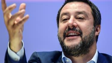 Le vice-président du conseil et ministre de l'Intérieur italien, Matteo Salvini